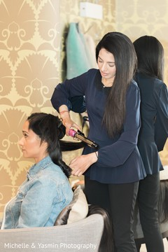 Indian bride hair styling