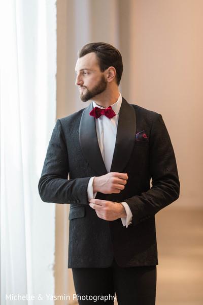 Indian groom reception fashion