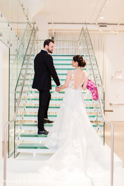 Stunning white wedding dress