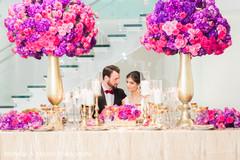 Gorgeous indian wedding floral centerpieces