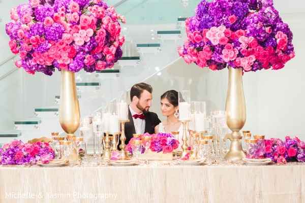 Gorgeous indian wedding floral centerpieces
