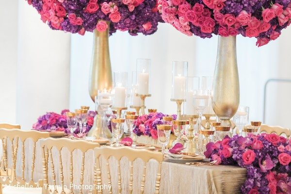 Dreamy indian wedding table decoration