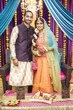 indian wedding gallery,indian bride and groom,gaye holud
