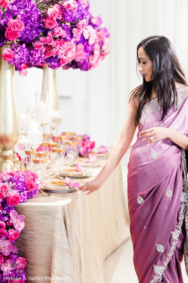 Beautiful purple ombre sari