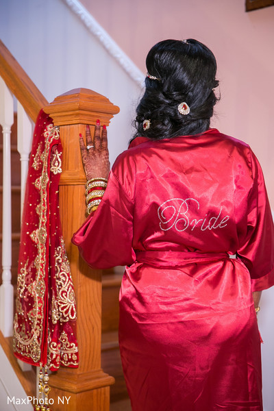 Personalized indian bride's robe