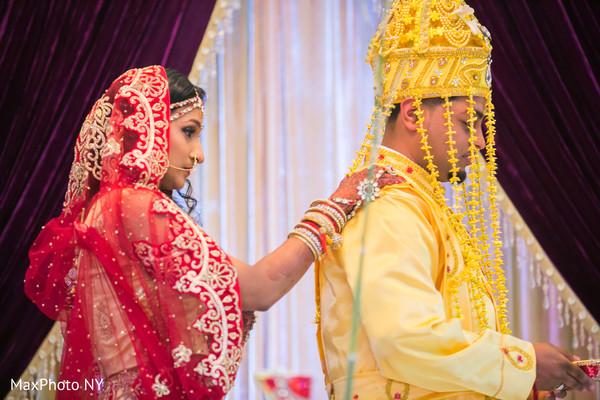 Traditional indian wedding Saptapadi ritual