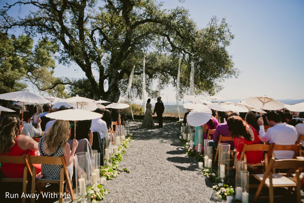 Out doors Indian wedding ceremony decoration photo.