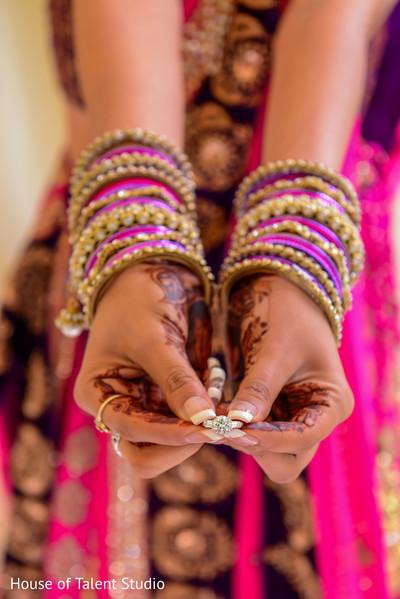 Indian engagement ring closeup capture.