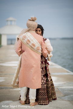 Heartwarming indian bride and groom's first look