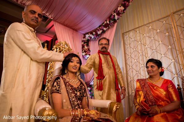 Indian bride during her wedding ceremony
