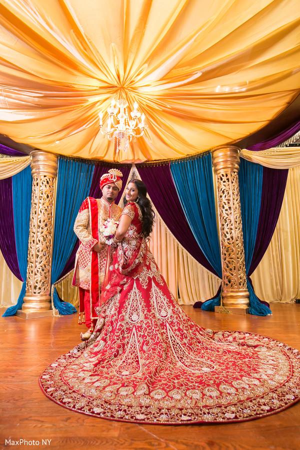 Lovely indian newlyweds portrait