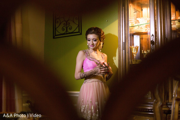 Beautiful indian bride posing