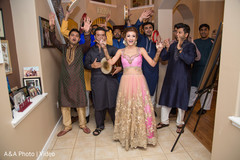 Indian bride's mehndi party