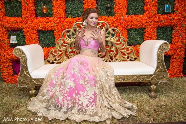 Glamorous indian bride posing
