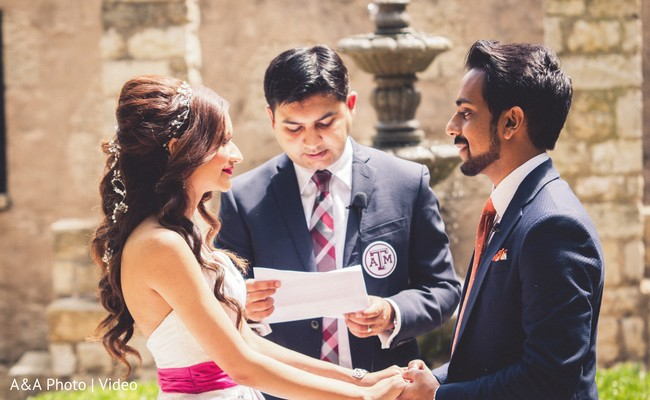 See this lovely indian couple at their civil wedding ceremony