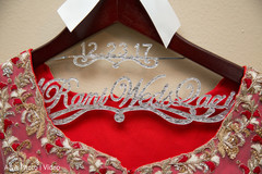 Fabulous indian bride's personalized clothing hanger