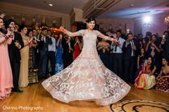 Indian bride's dance performance.