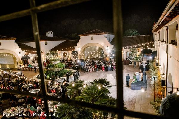 Romantic outdoor indian wedding party