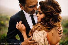 Indian newlyweds romantic moment