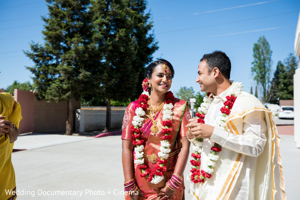 Indian couple looking at each other