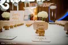 Beautiful Indian wedding elephant name card holder.