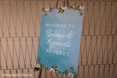 Sangeet welcome sign