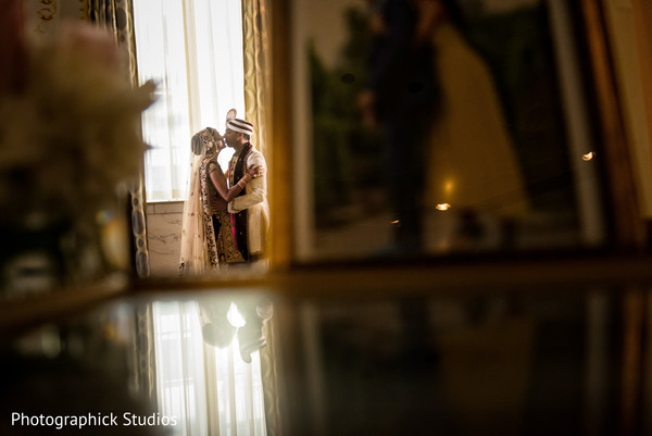 See this sweet indian bride and groom in Washington, DC Indian Wedding by Photographick Studios