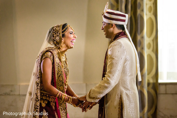 indian wedding gallery,indian bride and groom,first look photography
