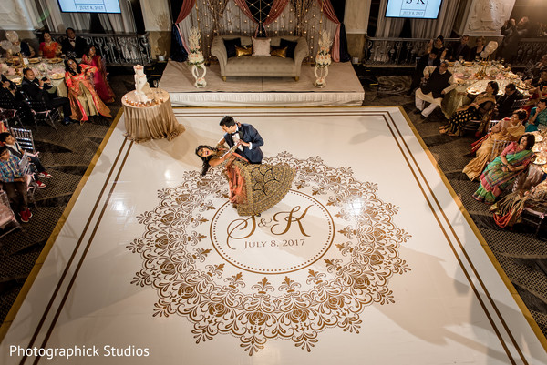Indian bride and groom first dance capture in Washington, DC Indian Wedding by Photographick Studios
