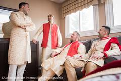 Indian groom with groomsmen capture