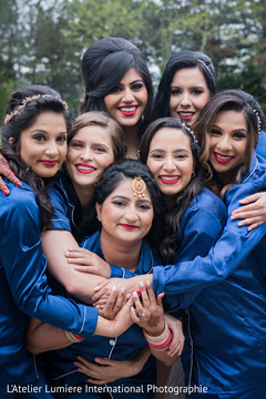 Lovely indian bride with bridesmaids photography