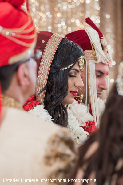 Lovely indian couple at their wedding ceremony