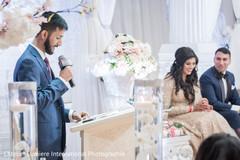 Traditional indian wedding speech moment
