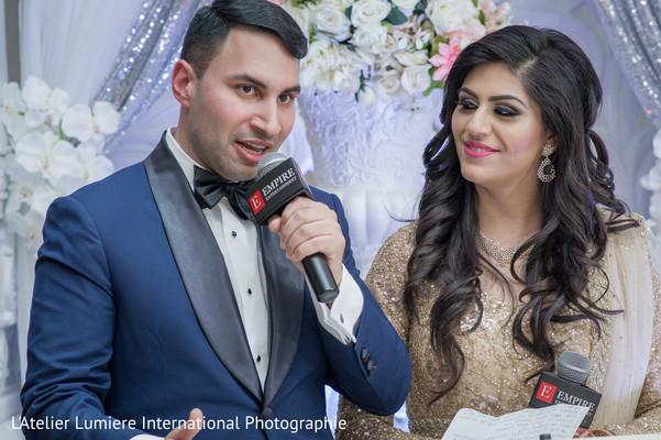 Indian groom's wedding speech scene