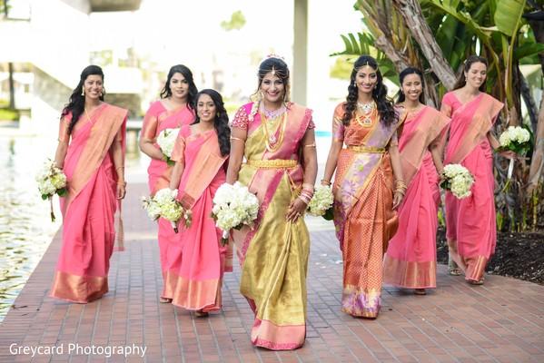 indian bridesmaids fashion,bridal bouquets