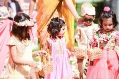 Indian wedding flower girls