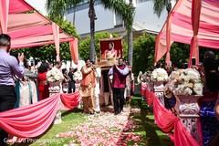 bridal sari,indian wedding,outdoor wedding