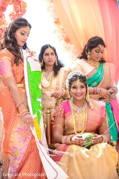 Maharani enjoying her wedding ceremony