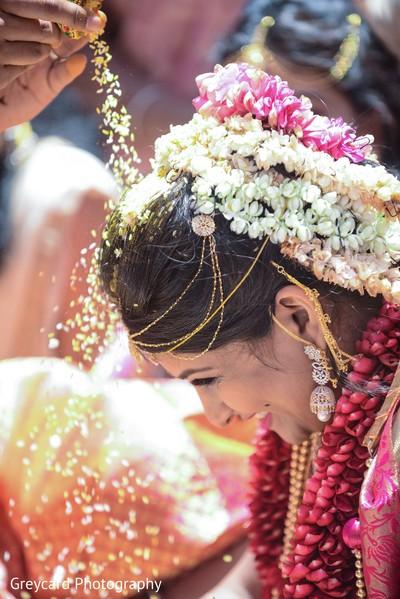 Indian bride having fun