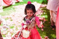 Cute indian wedding flower girl