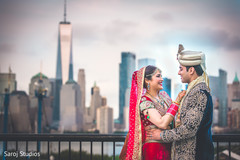 Outdoor themed Indian bride and groom's photo session.