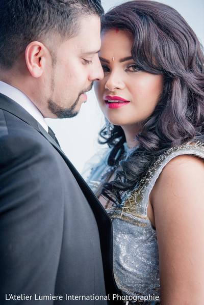 Dreamy indian newlyweds photo shoot