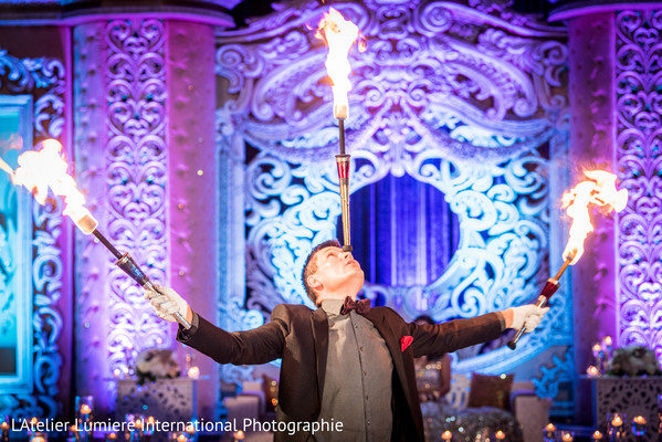 Fantastic reception fire show