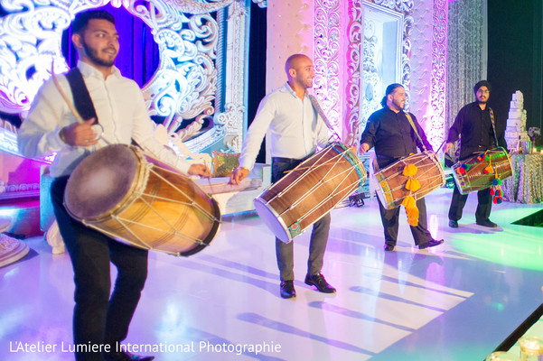 Dhol players during wedding reception