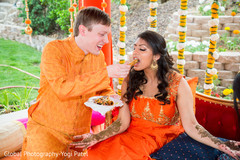 Cute indian couple during pre-wedding celebrations