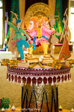 Creative indian wedding sangeet decor