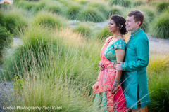 Beautiful capture of indian bride and groom