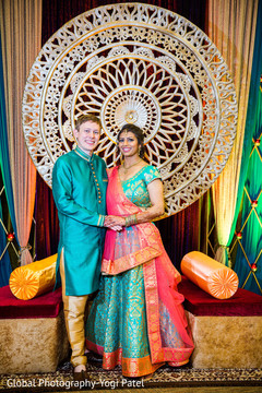 Indian couple's sangeet photo shoot