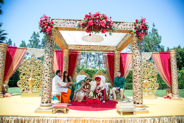 Traditional Indian wedding ceremony ritual. in Irvine, CA Fusion Indian Wedding by Global Photography