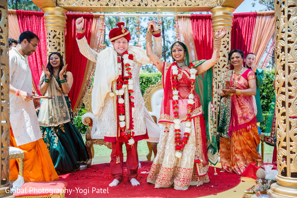 Enchanting indian wedding ceremony in Irvine, CA Fusion Indian Wedding by Global Photography